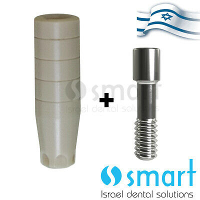 Dental Implant Temporary Peek Abutment Mis Conical C1 Wp Compatible Screw