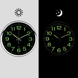 12Modern Large Luminous Silent Quartz Wall Clock  for Accurate Time Home Office