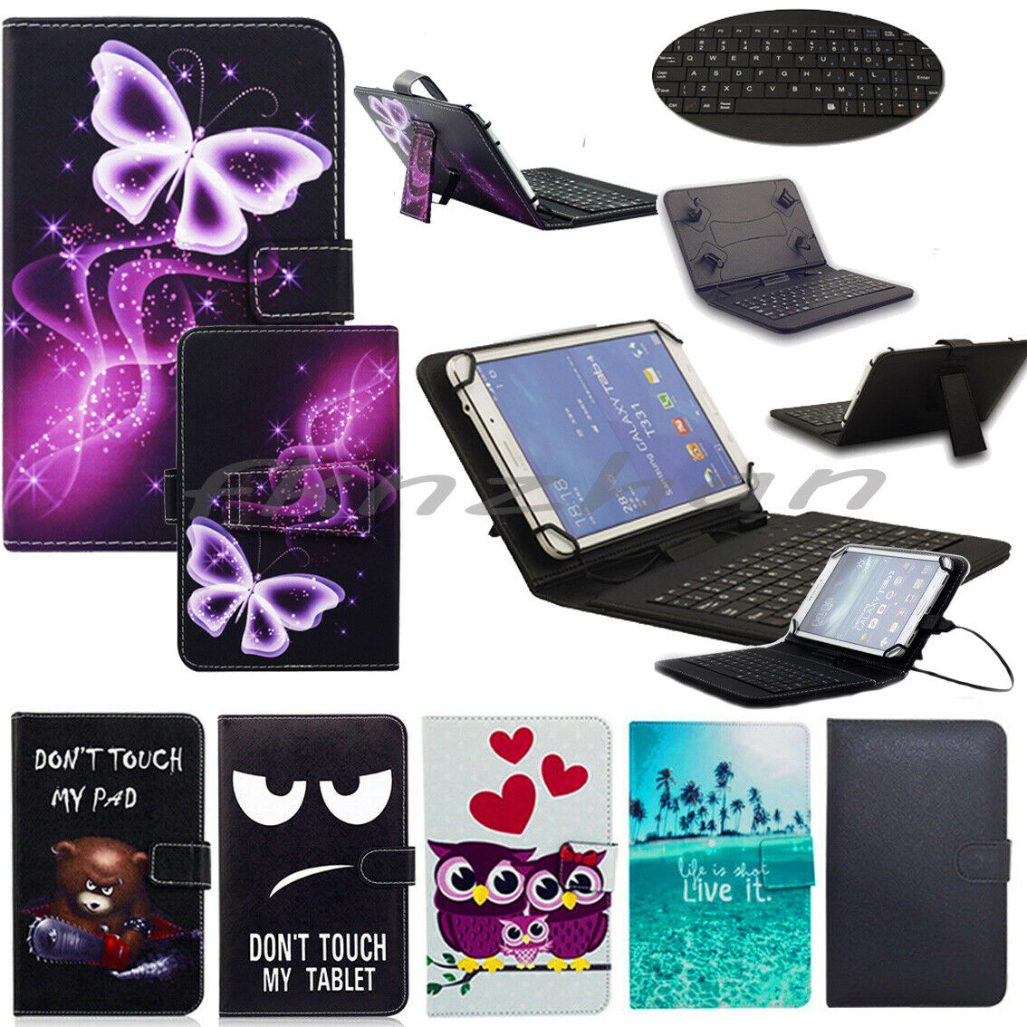 """US For Lenovo Tab E10 10.1"""" Tablet PC 2018 Print Leather Cas"""