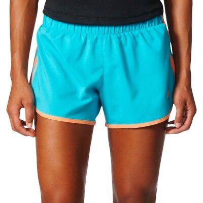 New adidas Women's Running Blue M10 3 Stripes Woven Shorts 3