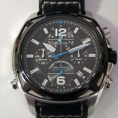 Bulova Stainless Steel 300m Chrono Precisionist Quartz Watch 98B226 AS IS BUL875