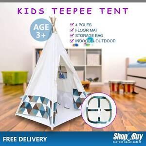 Free Delivery: Children Outdoor Indoor Teepee Tent Kids Canvas P Moorebank Liverpool Area Preview