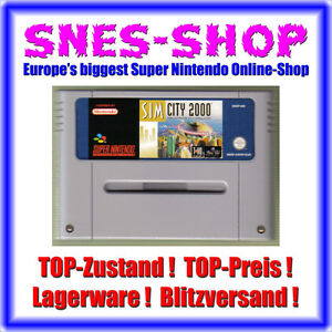 Super Nintendo SNES Sim City 2000 SimCity Städte Bau TOP GE0204