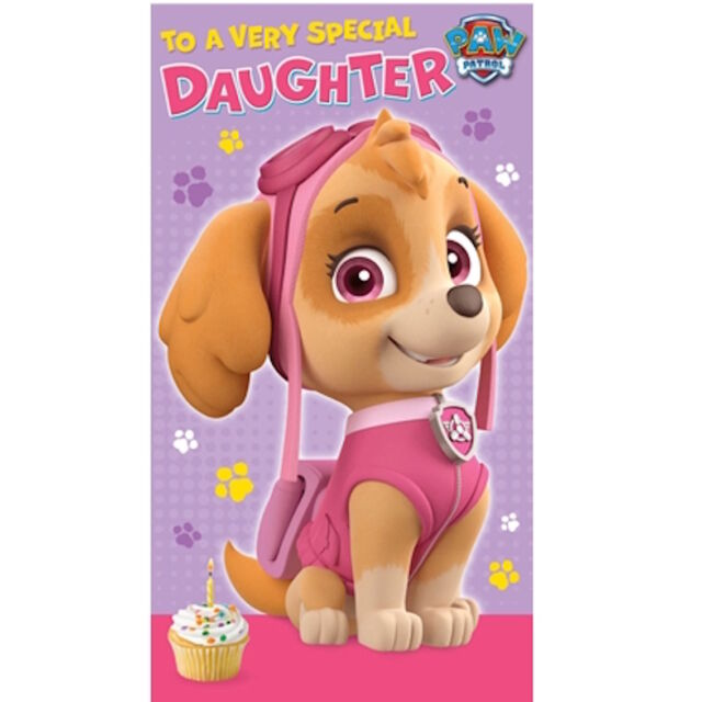 """OFFICIAL PAW PATROL"""" DAUGHTER"""" BIRTHDAY/GREETINGS CARD ***FREE 1ST CLASS P&P***"""