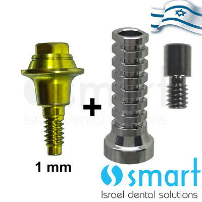 Dental Implant Mis Conical V3 C1 Np Fit Straight Multi Unit Plastic Titanium 1mm
