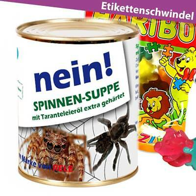 ►Gag Konserve Spinne Überraschung Geschenkideen ► Geschenk Dosen Geburtstag ()