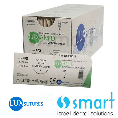Dental Nonabsorbable Surgical Suture 40 Nylon Monofilament Luxamid Polyamid Ce