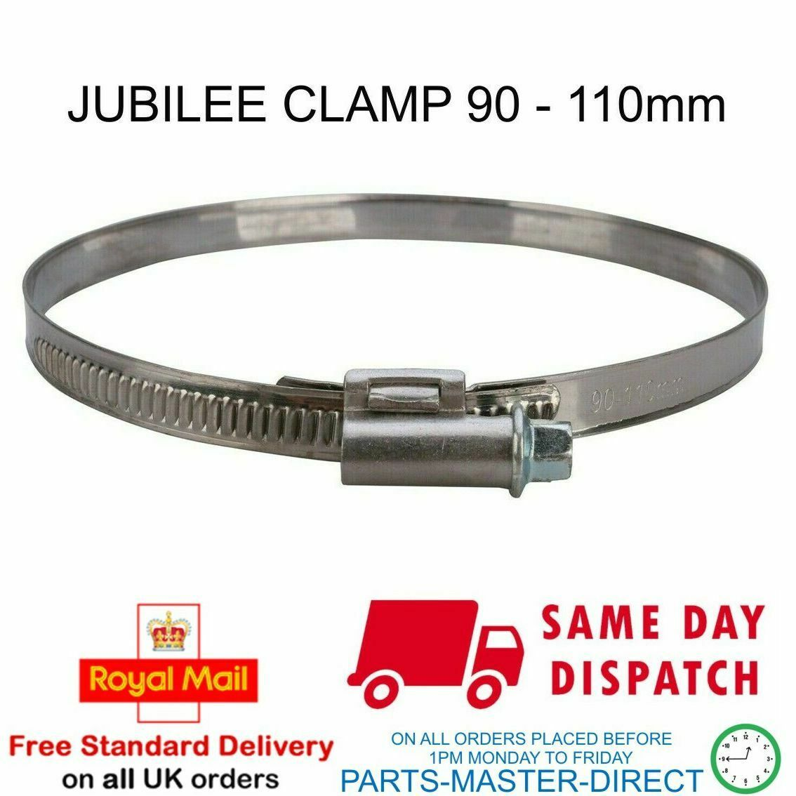 JUBILEE CLIP DRIVE CLAMP BAND 90mm - 110mm FOR TUMBLE DRYER 4