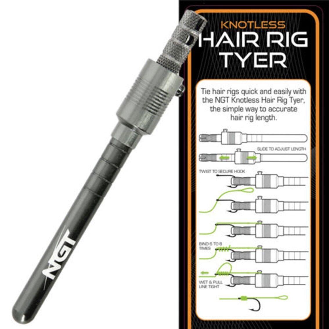 NGT HAIR RIG HOOK TYING TYER TOOL CARP FISHING TACKLE BRAID HAIR RIGS POPS UPS | eBay