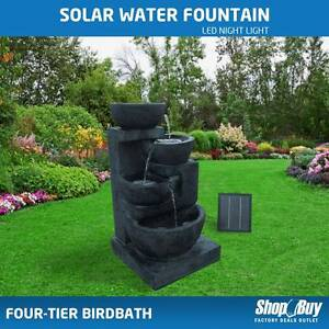 Free Delivery: Solar Power Four-Tier Water Fountain Garden Water Box Hill Whitehorse Area Preview