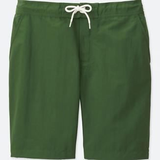 UNIQLO mens swin active shell pants, Green Medium size