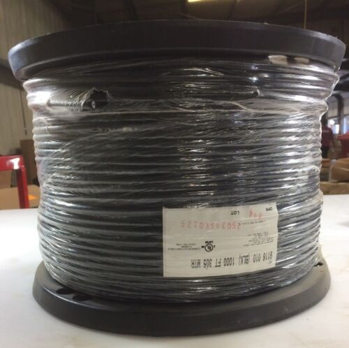 Belden 1000 ft Black Cable 9116010