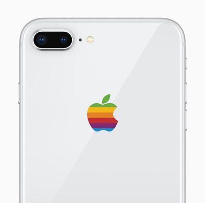 Retro Rainbow Apple Decal Sticker for iPhone 8 Plus, iPhone 7 Plus, 6 Plus