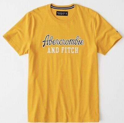 Abercrombie And Fitch Mens Applique Logo T-shirt Size S