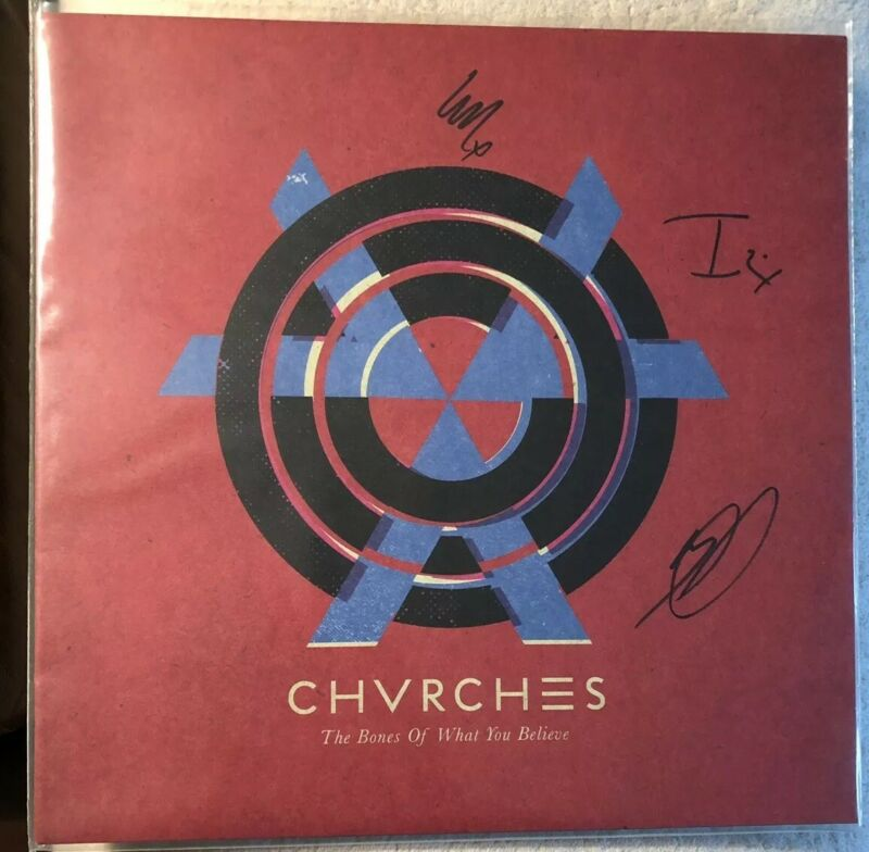 CHVRCHES The Bones Of What You Believe LP Signed Vinyl Record