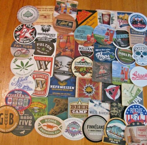 100 New Western Microbrew & Craft Beer Coasters! Includes 50 New Belgiums! Save$