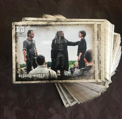 Topps The Walking Dead Season 8 Part 1 Complete 90-Card Base Set