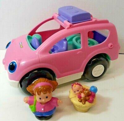 "2009 Fisher Price Little People SUV Pink Melody SUV Minivan Van 9"""