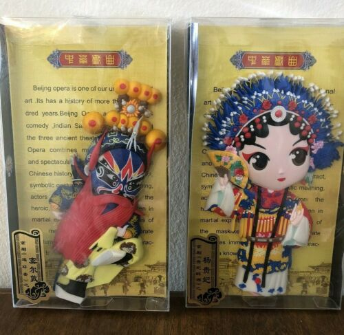 Beijing opera set of 2 magnetics Warrior and cermonial robe