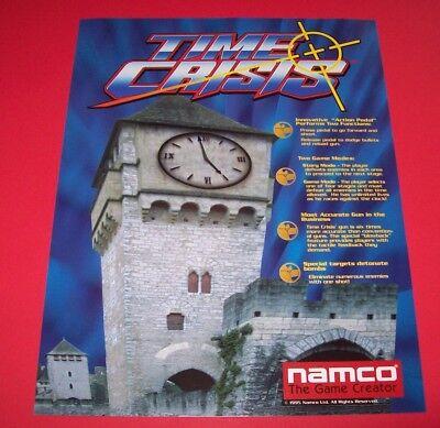 Namco TIME CRISIS 1995 Original Video Arcade Game Promo Sales Flyer Adv. Artwork