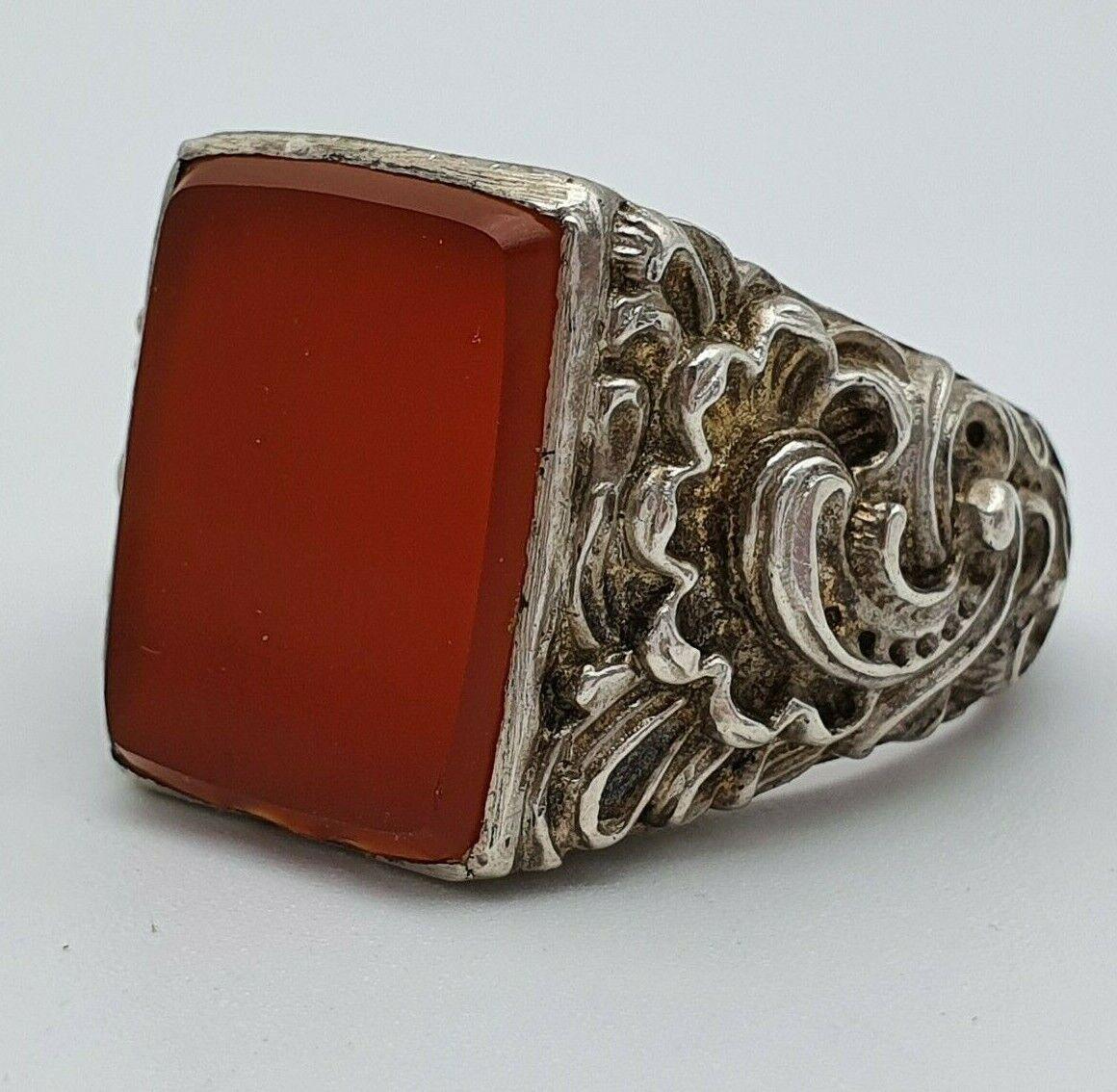 Art Deco Karneol Silber Ring Herrenring Siegelring 25.6.20