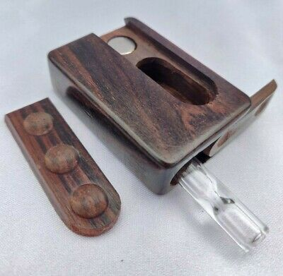 Mini Rosewood Slide Lid Dugout Box, 2