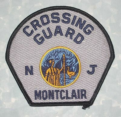 """Montclair Crossing Guard Patch - New Jersey - 4 3/8"""" x 4"""""""