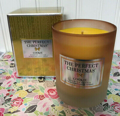NEW IN BOX THE WHITE BARN CANDLE CO - THE PERFECT CHRISTMAS COOKIE CANDLE 10 OZ.