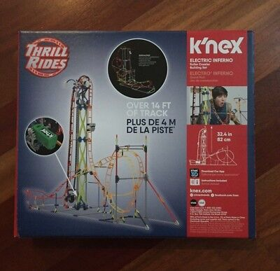 Knex Thrill Rides Electric Inferno Roller Coaster   Almost Complete