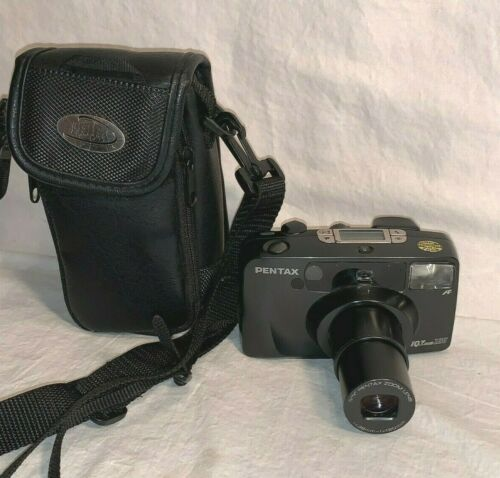 Vintage PENTAX IQZoom 120 35mm Point & Shoot film ZOOM CAMERA New Battery Film
