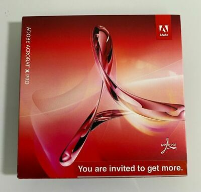 New Adobe Acrobat X PRO for Windows *Disc with activation key* 2 pc 1 user