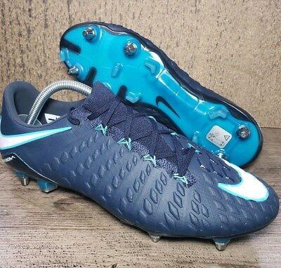 outlet store 5aaf4 504c7 Nike Hypervenom Phantom lll Flyknit SG-PRO Soccer Cleats 903622-415 Sz 10.5  BLUE