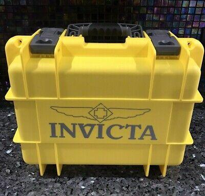 Invicta 8 Slots Impact Diver Yellow & Gray  Impact Resistant Case (New Unused )