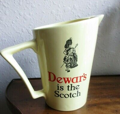 "Vintage WADE*DEWAR'S is the Scotch*WHISKY 6.75"" PUB WATER JUG*1937-1952"
