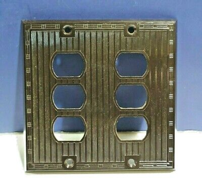 Bryant Electric Brown Double Gang 6 Hole Despard Wall Plate