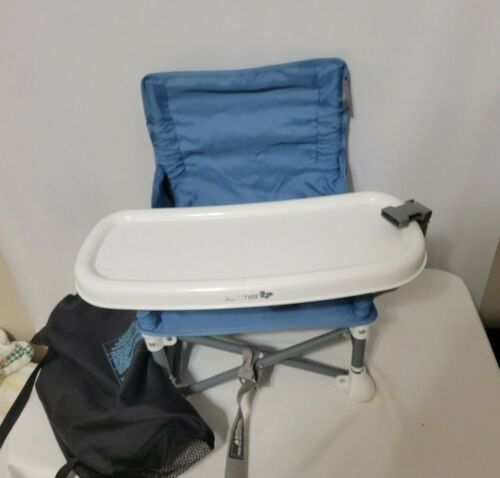 Summer Infant Portable Booster Blue Baby High Chair Portable Folding Camping