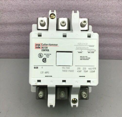 NEW CUTLER HAMMER A201K4CB MOTR CONTROL CONTACTOR 3-PH 135AMPS SIZE-4