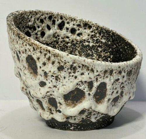 Toyo Ikebana Vase Japan Modernist Pottery Planter Brutalist Lava Drip Glaze Orb