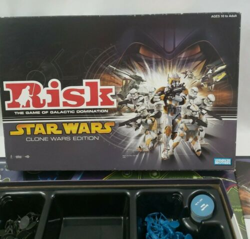 Risk Star Wars Clone Wars Edition Board Game Galactic Domination 2005 Complete