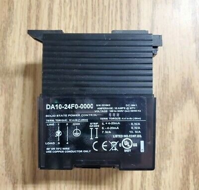 Watlow Da10-24f0-0000 Solid State Power Control Used