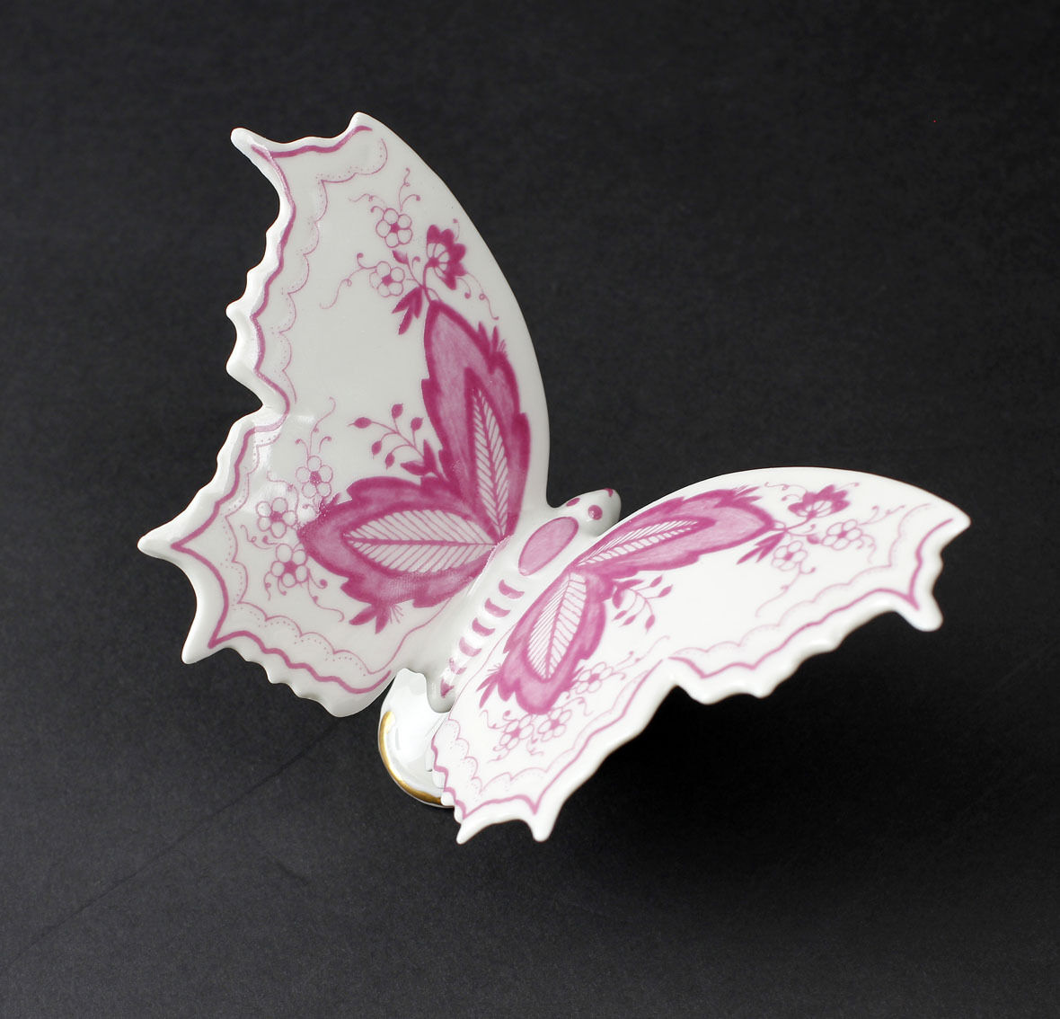 Butterfly Large Peacock´s Eye Red Kämmer-Porcelain 10X7X7CM a3-44233