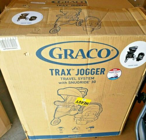 Graco Trax Jogger Travel System Jogging Stroller Car Seat SnugRide 30 Evanston