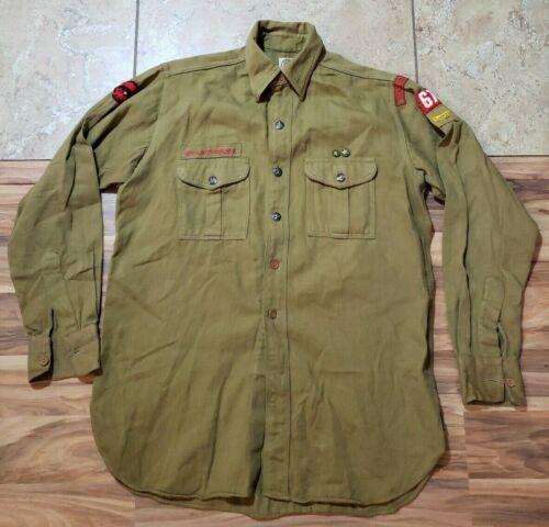 Vintage Boy Scouts BSA Shirt Patches 1940s? Marionville adult size