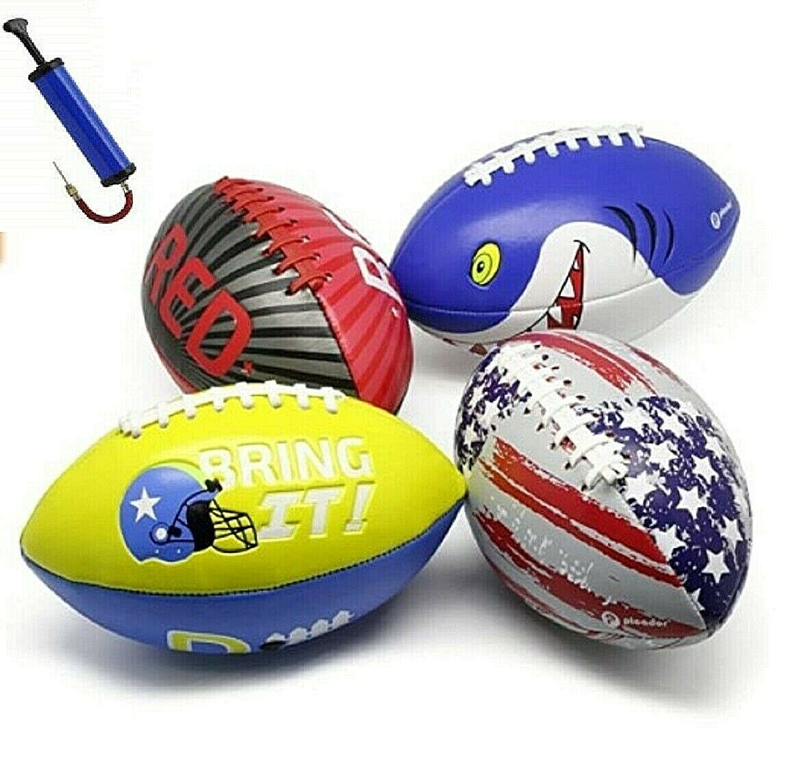 Kids Football Size 3 Grip Rugby Ball for Kid Boys Girls FREE Pump In & Outdoor Other Rugby