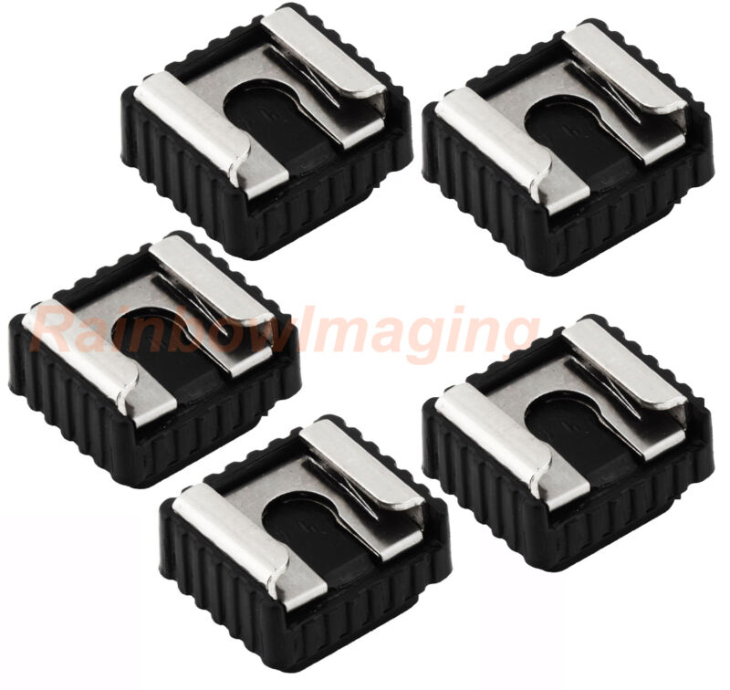 "5 x Flash Hot Shoe Mount Adapter to 1/4"" Thread for Studio Light Stand/Tripod"