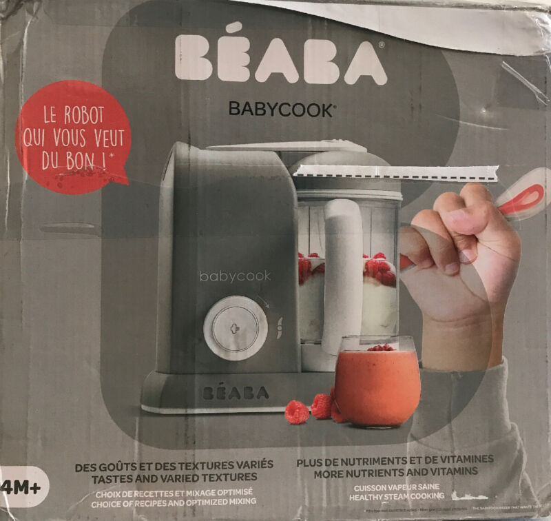 BEABA Babycook Food Maker in Cloud (Grey) - USED, GOOD CONDITION