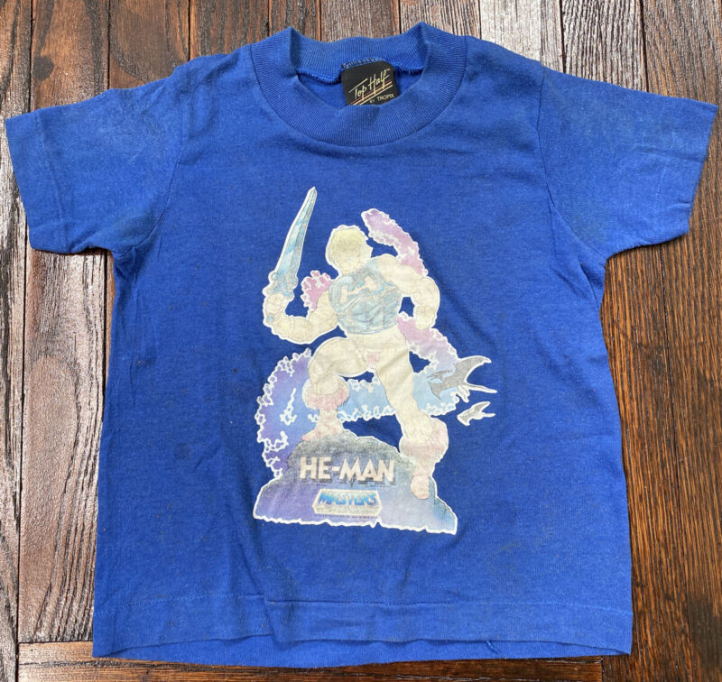 Vintage 80s HE-MAN Masters T Shirt 50/50 Single Stitch USA Kids 6/8