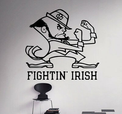 Wall Decal Notre Dame Fighting Irish NCAA College Football Vinyl Sticker (29nc)