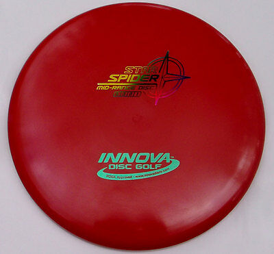 INNOVA STAR SPIDER 174.75 GRAMS RED w/RAINBOW STAMP MID-RANGE DRIVER ()