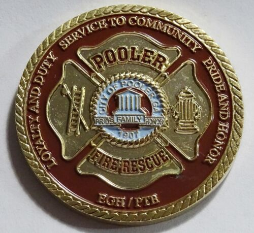 Pooler Fire Resuce Georgia  Challenge Coin NEW